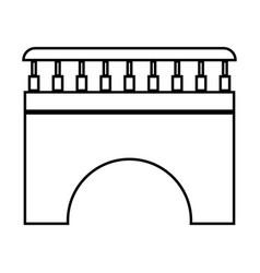 Bridge black color icon vector