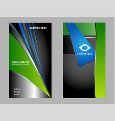 business card design set vector image