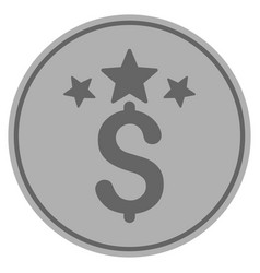 business stars silver coin vector image