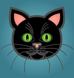 Cartoon black cat vector