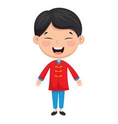 Chinese kid vector