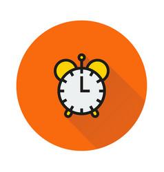 Clock icon on round background vector
