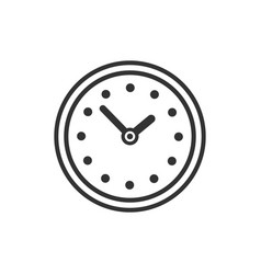 Clock icon silhouette isolated on white background vector