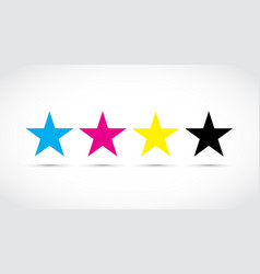 Cmyk stars vector