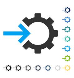 Cog integration icon vector
