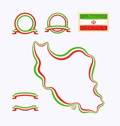 Colors of Iran vector image