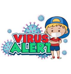 Coronavirus poster design for word virus alert vector