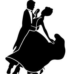 Couple dancing ballroom dance eps 10 vector