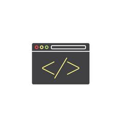 custom coding symbol programming vector image