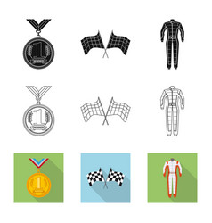 design of car and rally logo collection of vector image