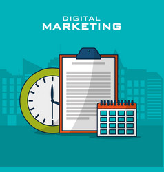 digital marketing business vector image