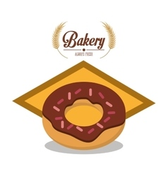 Donut of bakery design vector