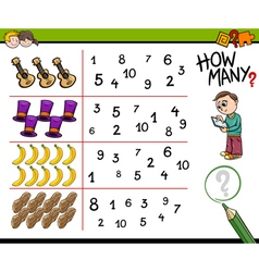 educational counting activity for kids vector image