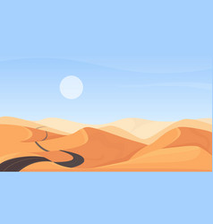 Egyptian desert natural landscape cartoon vector