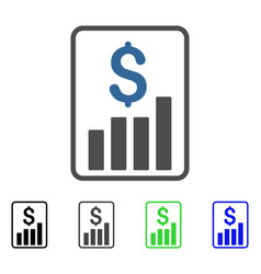 Financial report flat icon vector