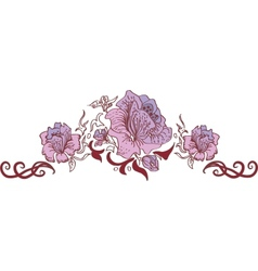 Flower style ornament vector image