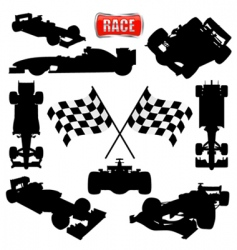 Formula cars flag and icon vector