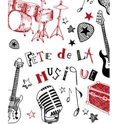 French music festival vector