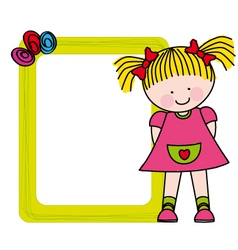 Girl frame vector