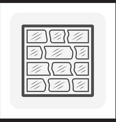Glass block or toilet wall icon design vector