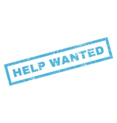 Help Wanted Rubber Stamp vector