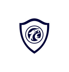 jaguar concept guard shield logo icon vector image