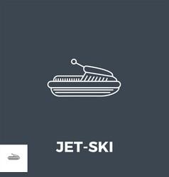 Jet-ski line icon vector