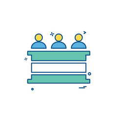 law court people person icon design vector image