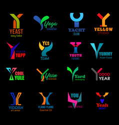 Letter y creative corporate identity icons signs vector