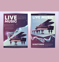 live music concert promo brochure template vector image