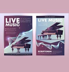 Live music concert promo brochure template vector