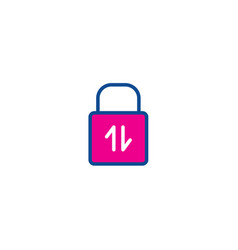 lock color thin line icon for web vector image