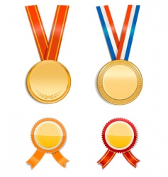 medals and badges vector image