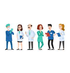medicine doctors medical physician hospital vector image