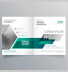 Modern bifold brochure template design for your vector