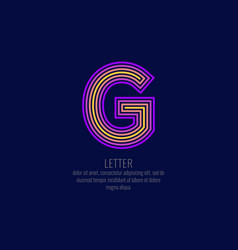 modern linear logo and sign the letter g vector image