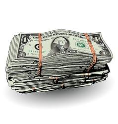 Money Bundle with ones vector