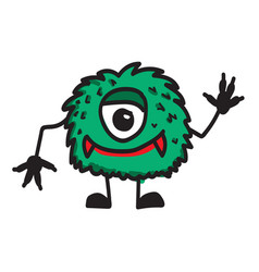 monster cartoon icon vector image