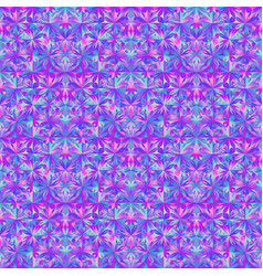 Multicolored geometrical abstract mosaic floral vector