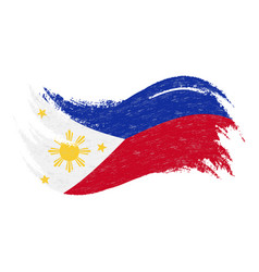 National flag of philippines designed using brush vector