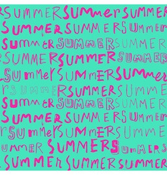 neon summer doodle seamless pattern vector image