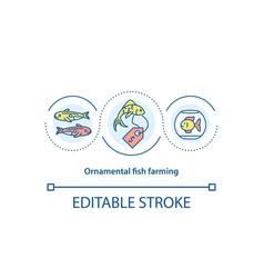 Ornamental fish farming concept icon vector