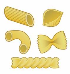 pasta types vector image