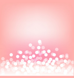 pink bokeh and lights abstract background vector image