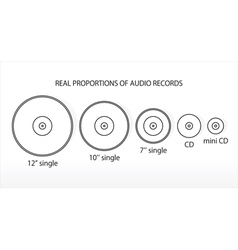 real propportions audio records vector image