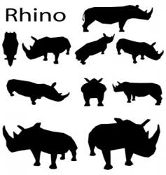 rhino vector image