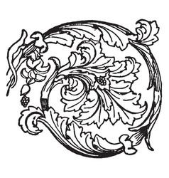 Rosette is a roman ornament vintage engraving vector