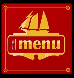 sail ship menu vector image