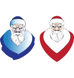 Santa claus cartoon holidays vector image