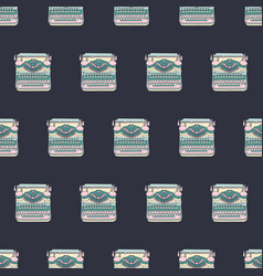 Seamless pattern with vintage typewriters design vector